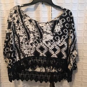 LIKE NEW Patrons of Peace Black Boho Blouse